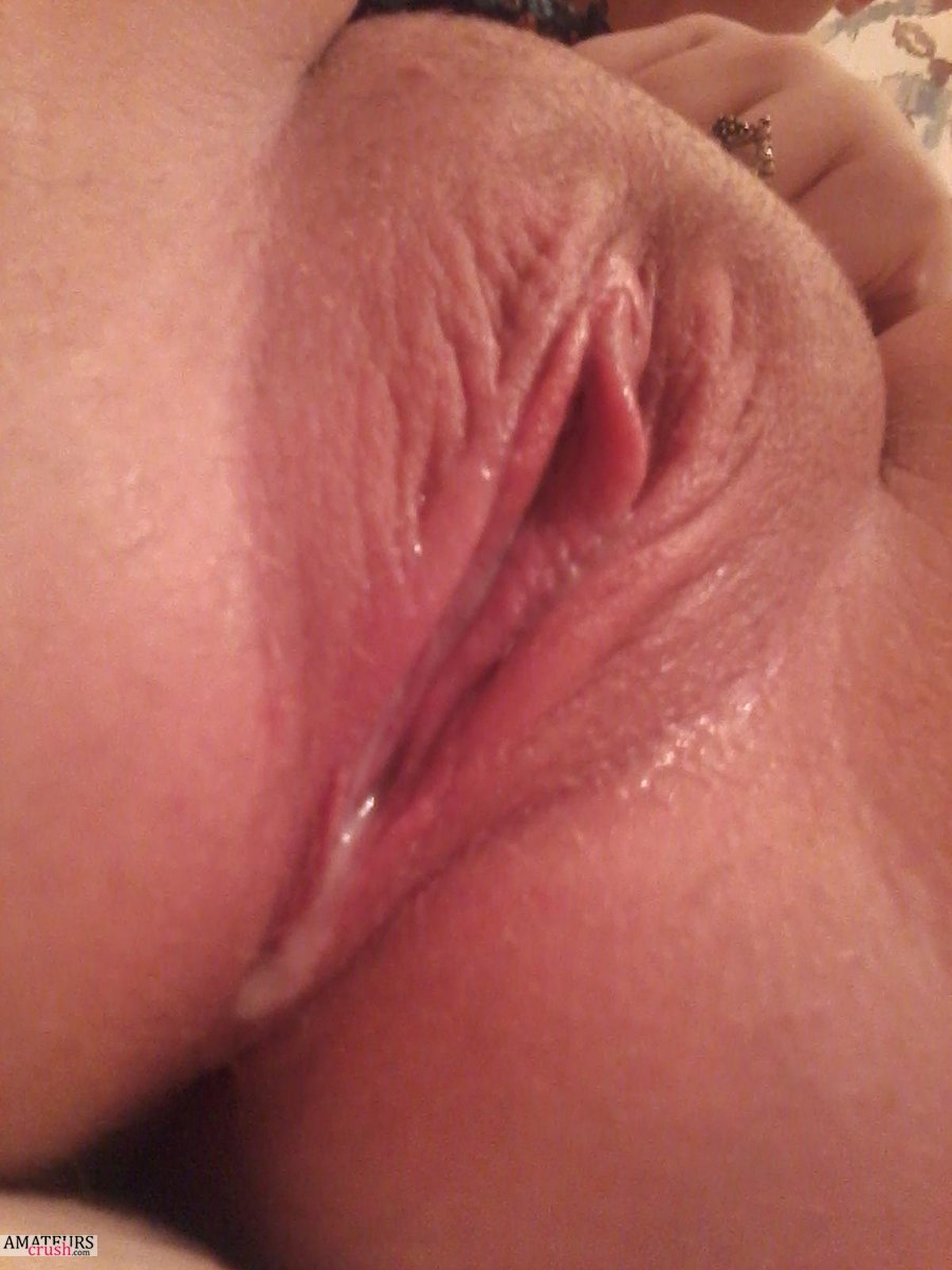 Spread Wet Pussy Close Up