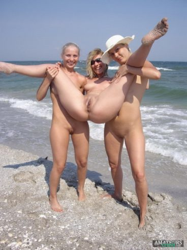 college girl students with spring break on beach nudes