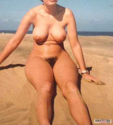 curvy beach nudes of milf with big tits and hairy pussy