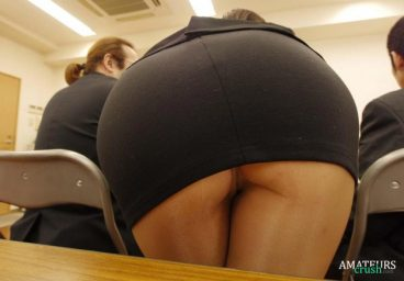 Teacher upskirt shows