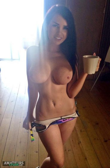 morning photo of petite girl with big tits