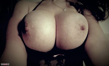 Busty girlfriend with her big tits out close up selfie