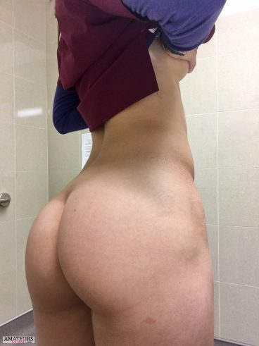 Big curvy ass on sexynurse showing off