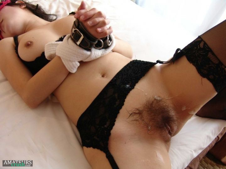 Amateur has a very hairy pussy 1
