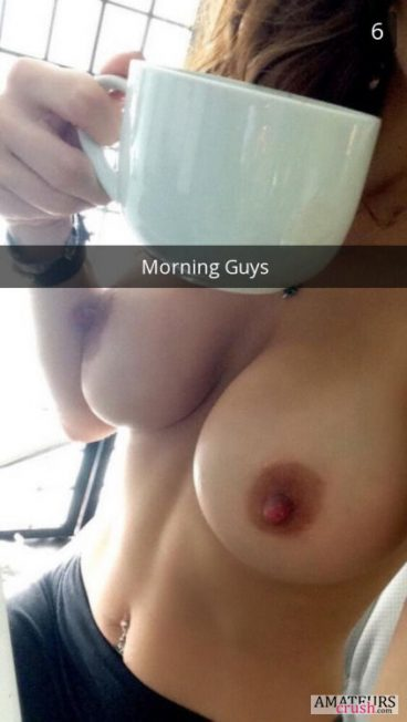 Big beautiful morning tits with a cup