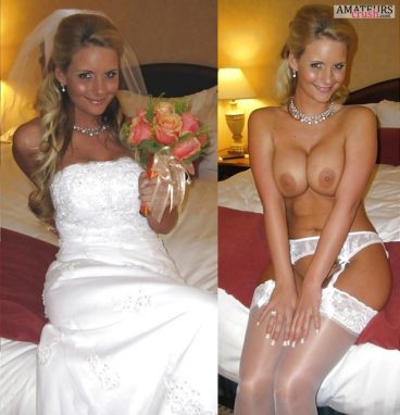 Big tits bridal nude in clothes on and off of sexy wife