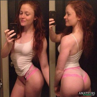 bubble butt natural redhead teen showing her tight curvy ass