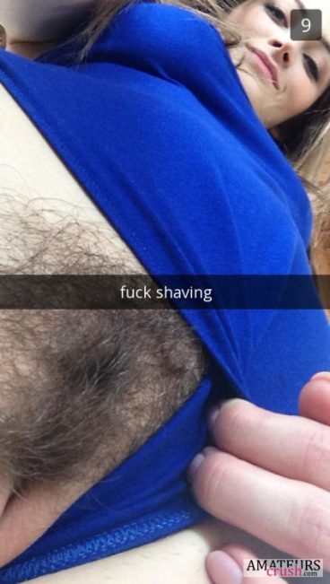 Fuck shaving showing hairy pussy