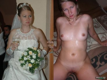 Nude brides wedding dress on and off showing hot titties and pussy
