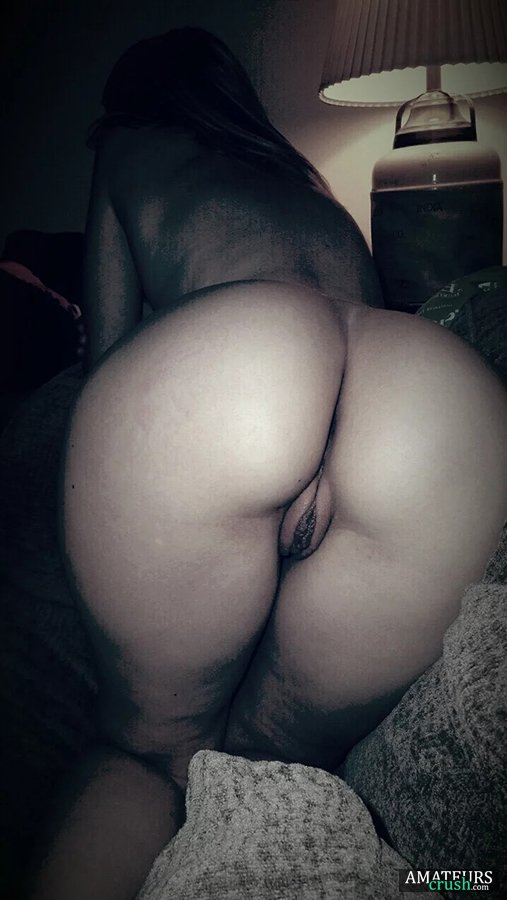 slutty girlfriend bent over pussy in the dark