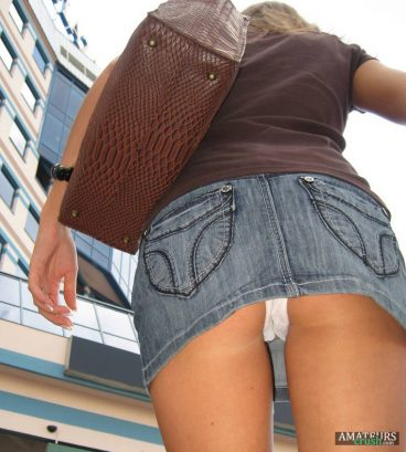 Voyeur pics white panties upskirt of wife