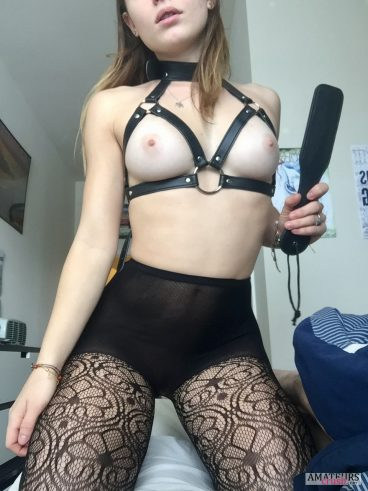 Amateur mistress pics of sexy GF wanting to spank you