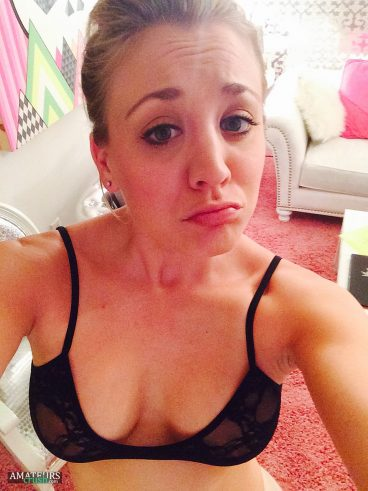 Sad Kaley look showing her cleavage in the fappening leaks