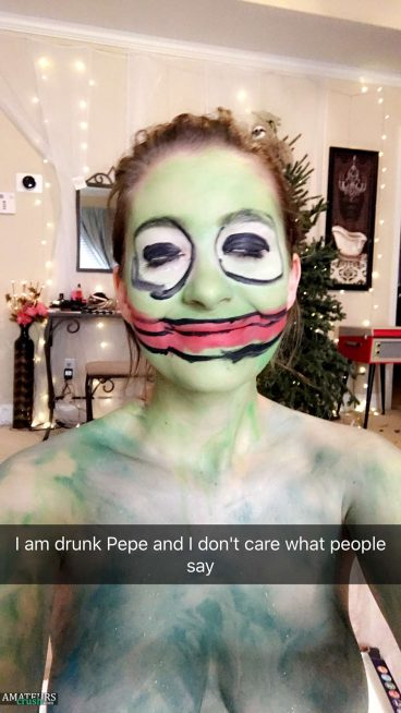 I am drunk pepe and I don't care what people think