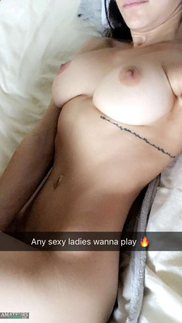 Big busty babe in nude snapchat pics