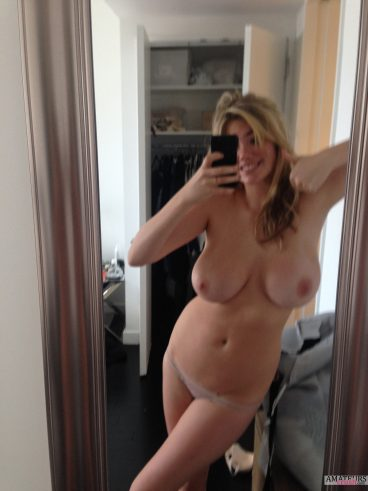 Hot Kate Upton nudes with thumbs up showing her big tits