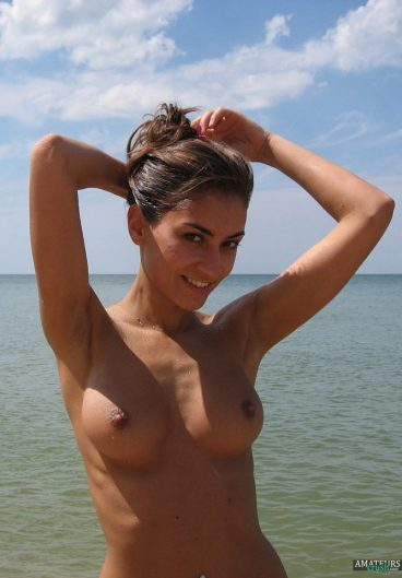 Beach nude of very hot Ukrainian wife with her tits in vacation leaked