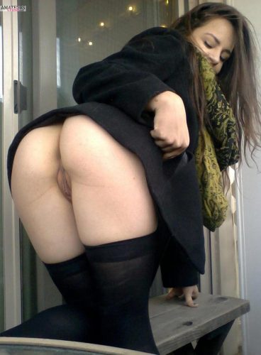 Slutty ex girlfriend bent over ass pussy upskirt picture