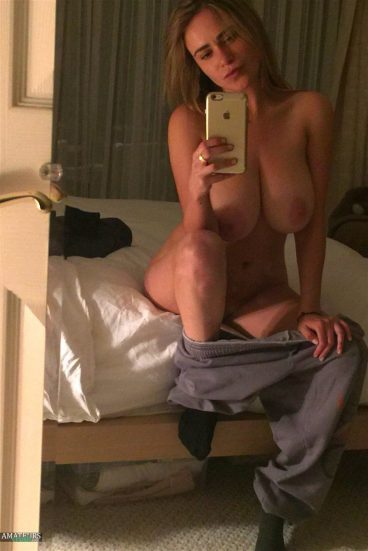 Naked on bed leaked celeb Nicolle naked from the fappening