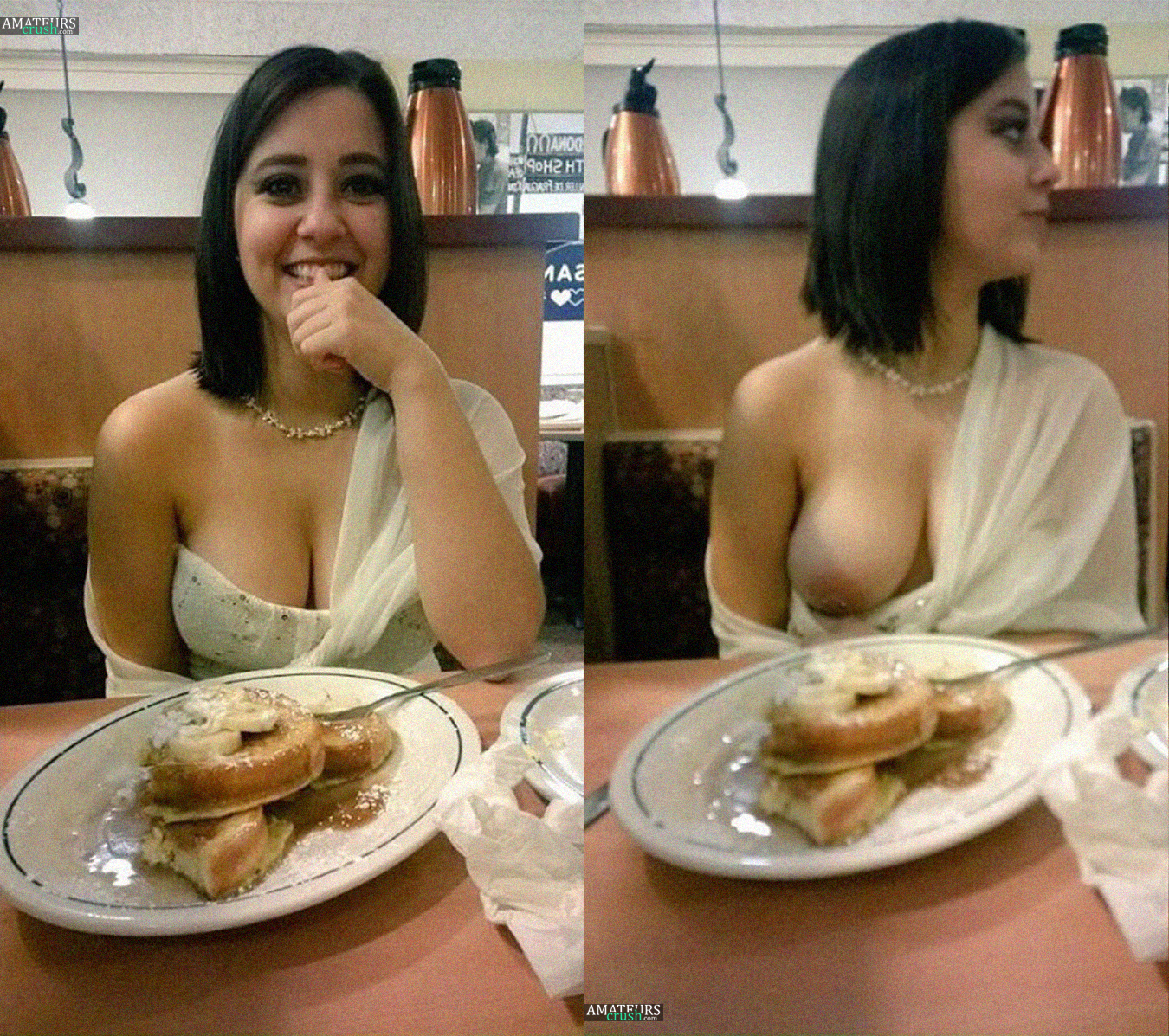 Boob flashes in public