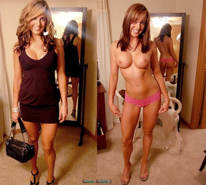 Amateur wife clothed and nude