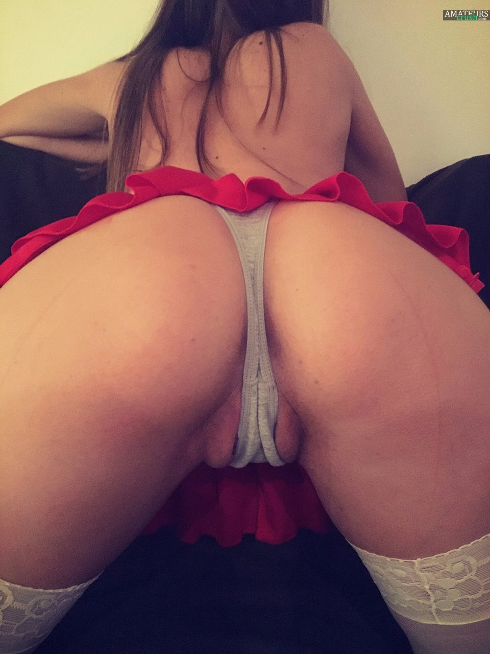 Fat ass wife bends over shows