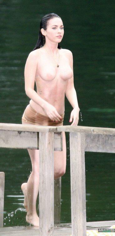 Nude Megan Fox on set Jennifers Body movie pictures
