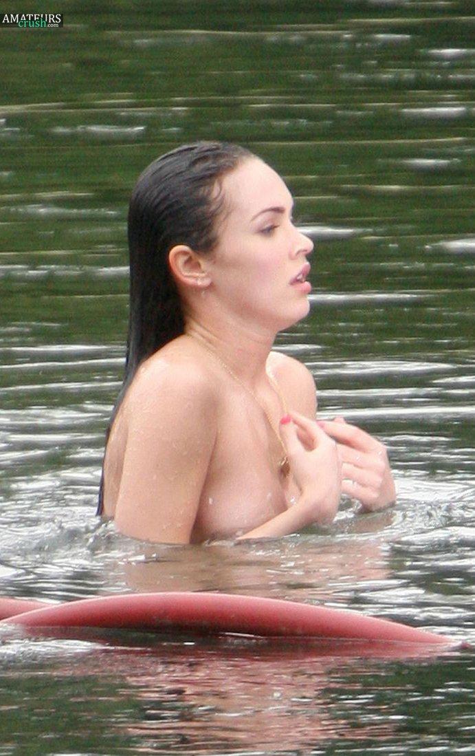 megan fox naked by a lake