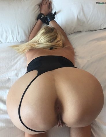 Tied up big ass girlfriend bending over pic