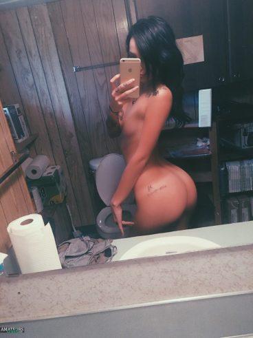 Selfshot of beautiful naked bubble butt of ShittyMermaid Tumblr