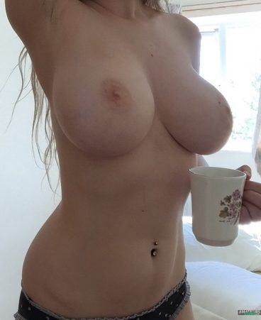 Morning big tit blonde selfshot of hot girl Tumblr