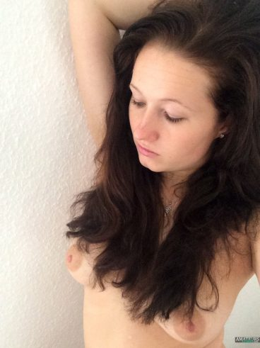 Hot naked German girl tits selfie Sandra 23 year old