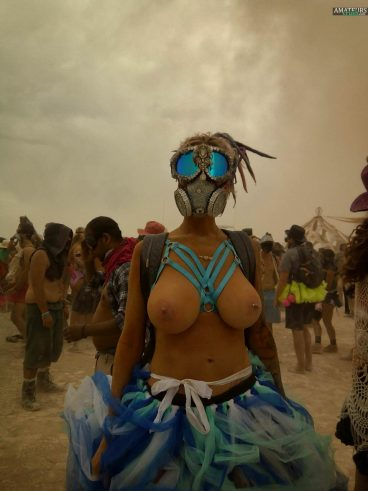 Hot burning man festival big tits punk voyeur nude