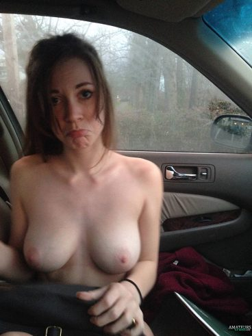 Naked girlfriend care picture showing her tasty hot tits