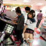Sexy Japanese ass flash gamehall picture voyeurs FI