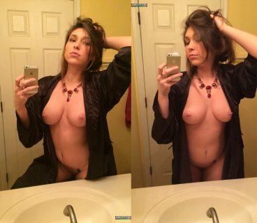 Naked big tits Erin Ashford Tumblr robe open