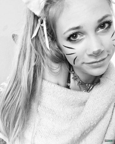 Cute young cat cosplay of Fractalacidfairy Tumblr