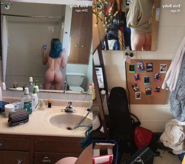 College girl naked ass from behind selfie EvieBaby