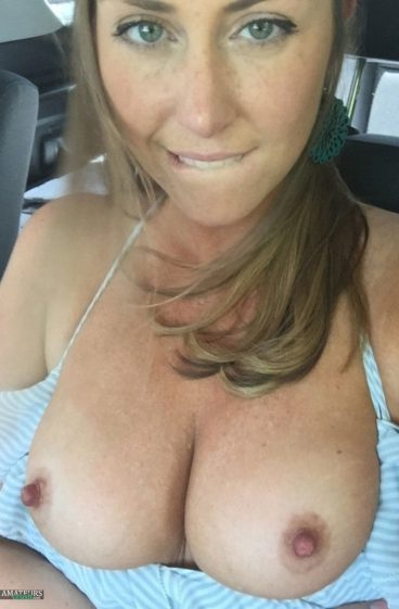 Married nude freckles girl tits out car