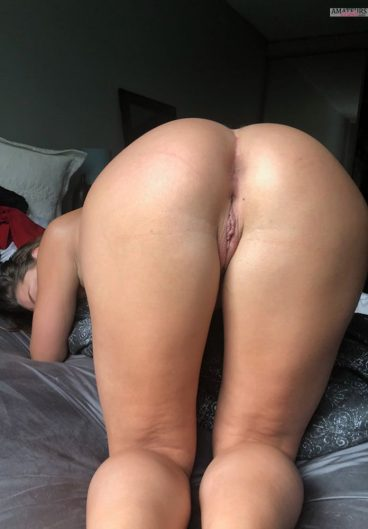 Face down ass up young wife naked on bed