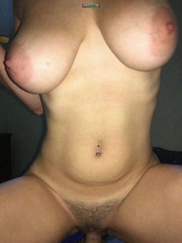Natural big breasts MILF cowgirl