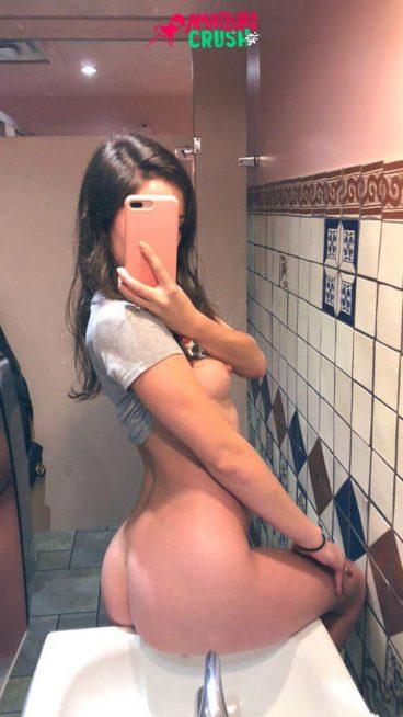 Ideal tiny tits tease MILF curvy ass porno