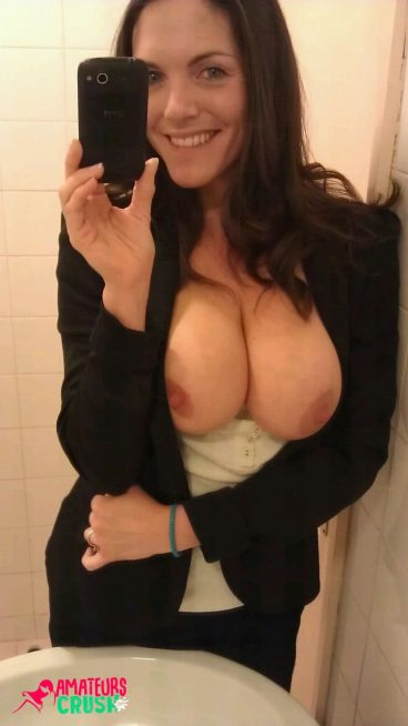 Juicy big secretary milf titties selfie dare